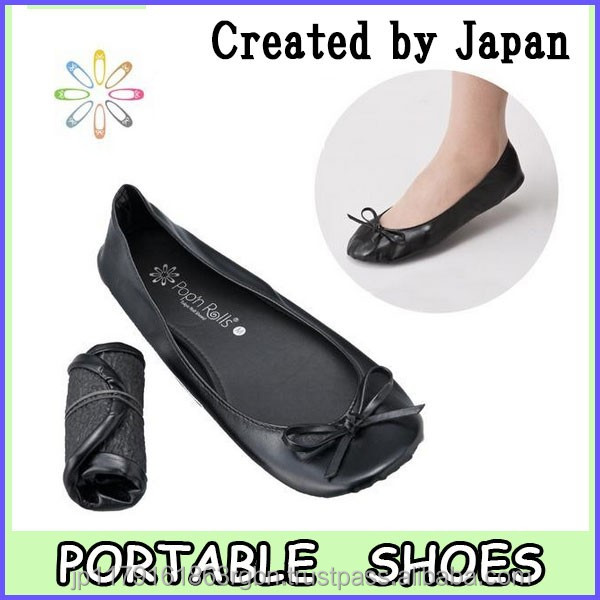 Pocketable and Comfortable ladies flat shoes for office shoes , aircraft footwear created by Japan