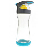 On-the-go Lemon Glass Water Bottle, Blueberry 20 oz by Full Circle Home