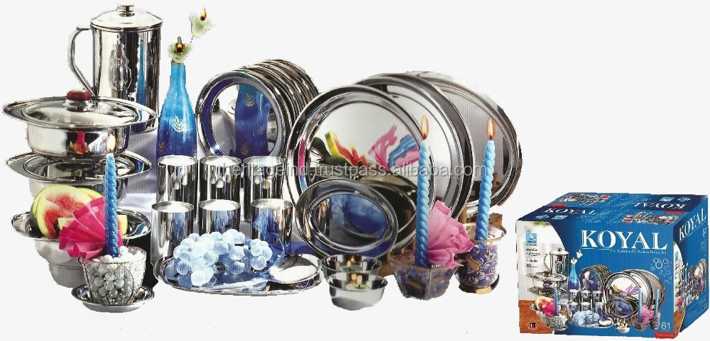 Stainless Steel Dinner Set (61 Pic Set)