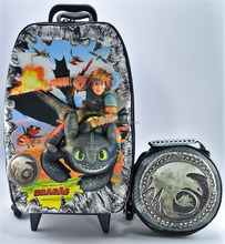 School Backpack With Wheels + Lunch Bag - EVA Thermomolded - 3D - How To Train Your Dragon