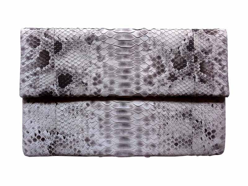 Folding Snakeskin Clutch Bag