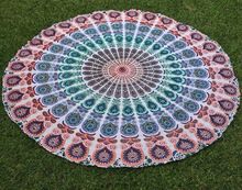 "72"" Indian Mandala Round Roundie Beach Throw Tapestry Hippy Boho Cotton Table Cloth Beach Towel Yoga Mat"