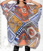 New Arrival Modern Design Multicoloured Designer-Georgette Short Kaftans/ Whole Sale Rate the Antique Designs Caftan for women.