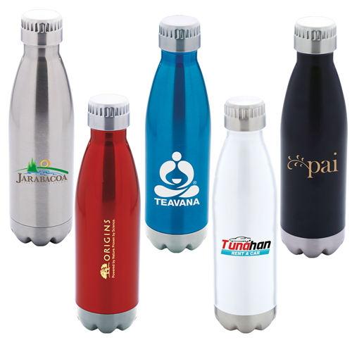 17 oz 18/8 Stainless Steel Vacuum Insulated Water Bottle - copper-plated inner wall and comes with your logo