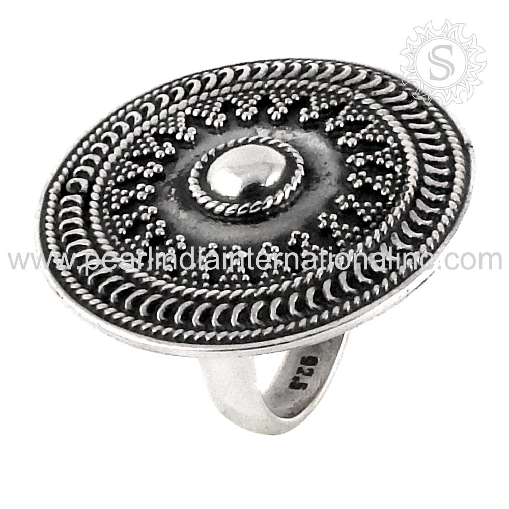 splendid sterling silver ring indian silver jewelry 925 sterling silver jewellery exporters