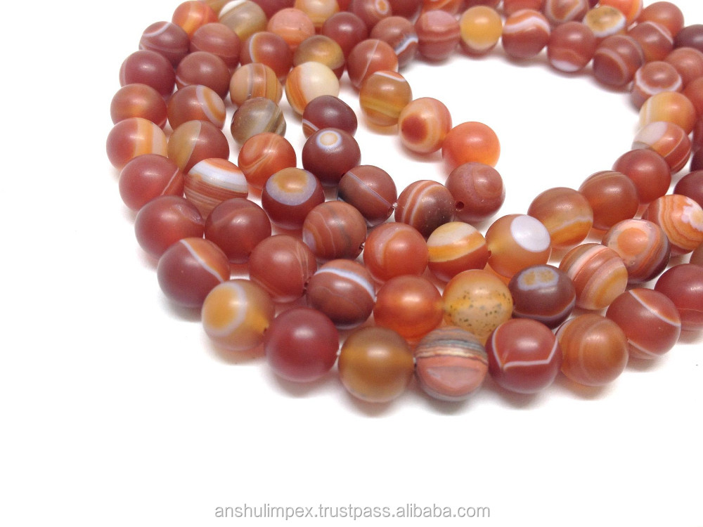 Wholesale Malas: Red Sulemani Agate Natural 6mm Jap Mala, mala beads necklace, rosary, wholesale lot