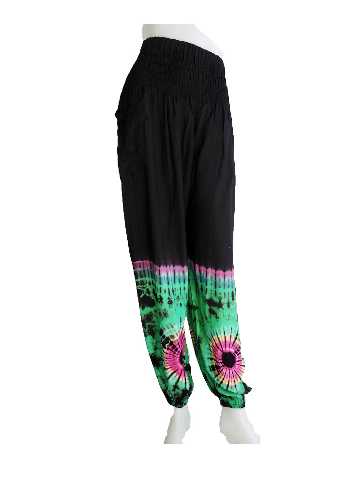 Tie Dye Trouser Pantalon pants Hindu Ropa Vetement harem pants .
