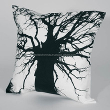 trendy 100% printed cotton material cushion covers