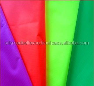 Eco-friendly fluorescent ripstop nylon fabric
