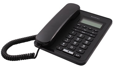 Alcatel with caller ID and log of the last 68 incoming calls Temporis 50 - black / white