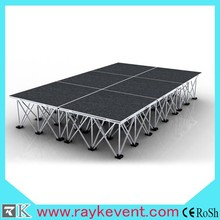 crystal stage decoration outdoor portable stage folding wedding stage