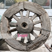 Indian Ethnic wooden bull cart wheel