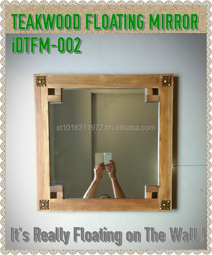 HOT 2015 New Design of Decorative Teakwood Floating Mirror