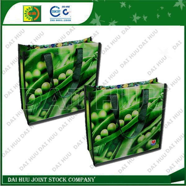 Lamination with BOPP woven shopping bag, high quality PP bag