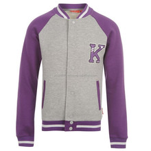 Kids Children Girls Varsity Jacket Long Sleeve Jumper/molten wool varsity jacket/Letterman junior Jacket