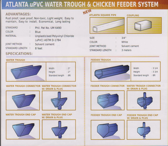 Atlanta Chicken Feeder and Water Trough System