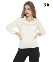 Women's Merino Wool Blend elegant white color Sweater