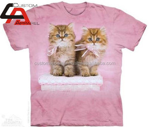 New Top Latest sublimation Couple Cats t shirts, 100 Polyester t shirt/Custom Dye Sublimation T-shirt
