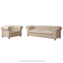 Classic Chesterfield style, Oxford tufted living room set