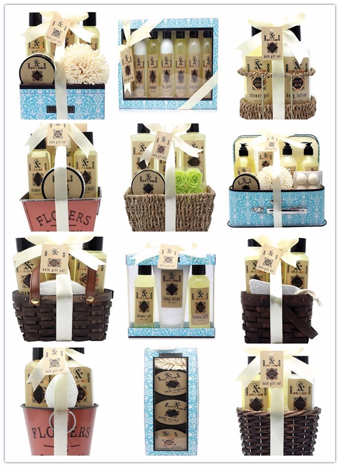 Essential oil bath spa gift set confortable for travel