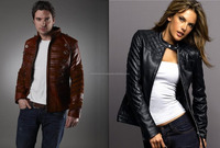 Wholesale battery men women rechargeable electronic leather jacket with
