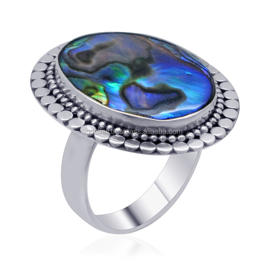 Bali Jewelry Paua Shell Ring