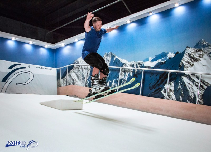 Buy in Taiwan Indoor snowboard and ski simulator endless revolving slope PROLESKI Skiing and snowboarding winter sports training