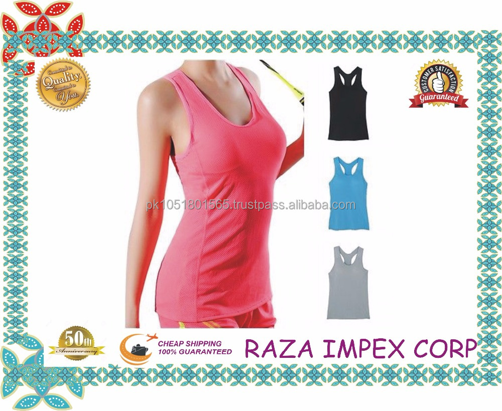 Profession Golf Sports Tank Tops for Women Made of dri fit / Wholesale Girls Yoga Tank Tops Fitness Gym Sports Wear Yoga Wear