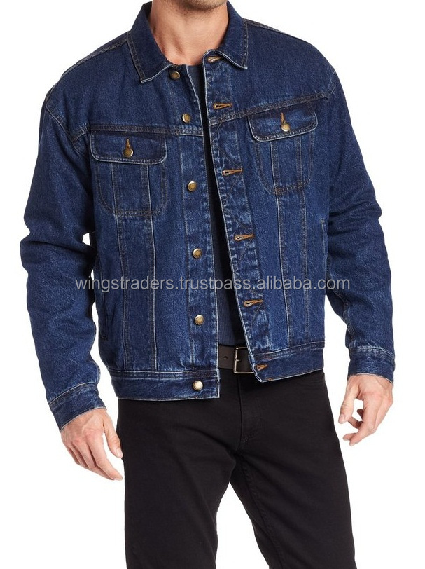 Adjustable waist Men's Rugged Wear Flannel-Lined Jacket By Wings Traders