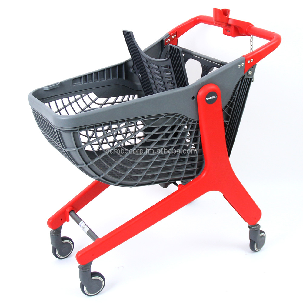 Shopping trolley made of plastic 100L
