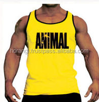 Dry fit mens workout tank top fitness training stringer singlet wholesale