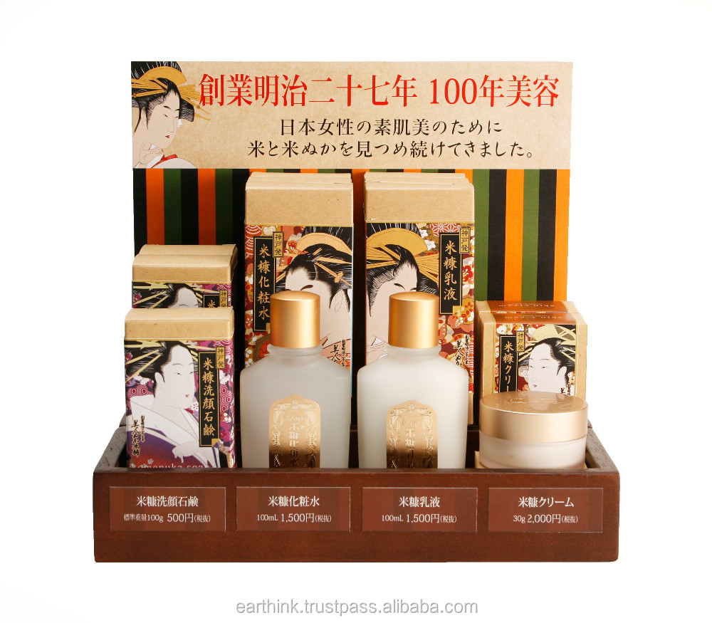 100 year cosmetics Rice Bran Cream 30g(ukiyoe package) Made in Japan