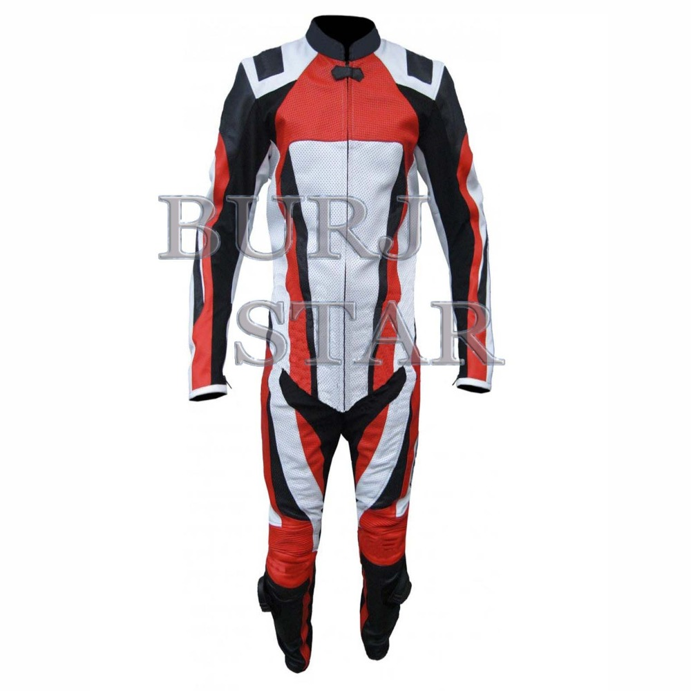 Motorbike Leather Suit , Full Safety Motorcycle Racing Suit - Top Leather