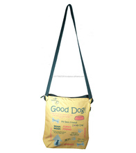 recyclable sling bag/ wholesale cotton fabric garment bag/ sling crossbody shoulder bag