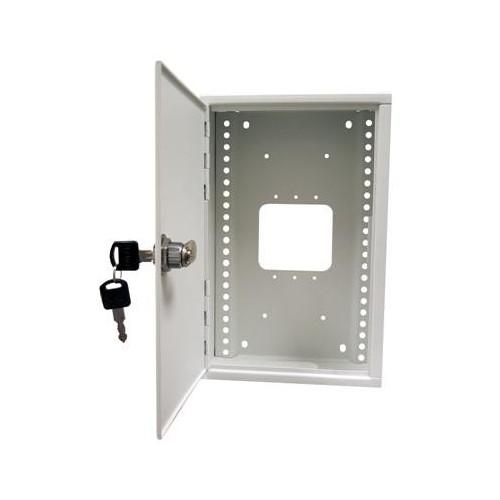 "Morris 87100, 7"" x 11"" x 3-1/4"" Small Home Network Enclosures w/ Hinged Door Surface Mount"