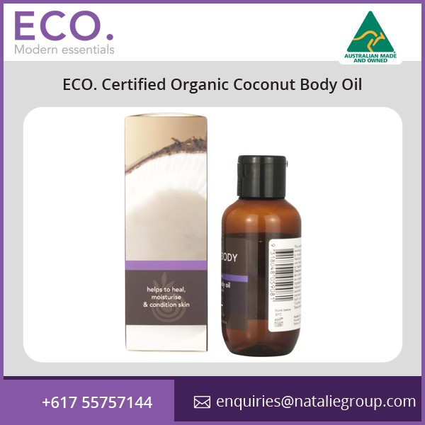 Organic Certified Coconut Body Oil for Smooth Skin at Reasonable Price