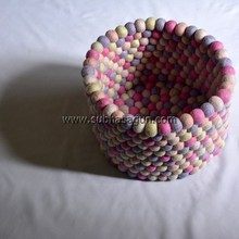 25 cm Base - 20 cm Height Felt Ball Baskets For Women