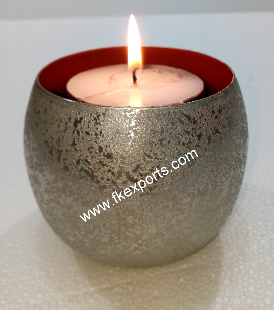 Iron Votive in Powder Coated Finish from inside and Etching from outside for Lighting & Decoration at Special Occasions.