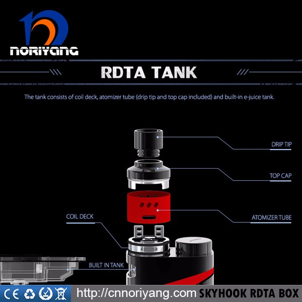 2017 Wholesale Genuine Smok SKYHOOK RDTA Kit with 9ml Tank