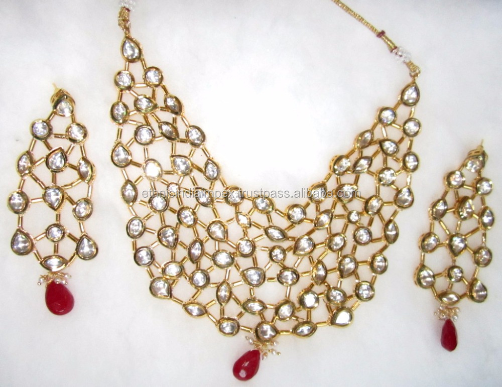 beautiful Kundan meenakari necklace dangler EARRING set