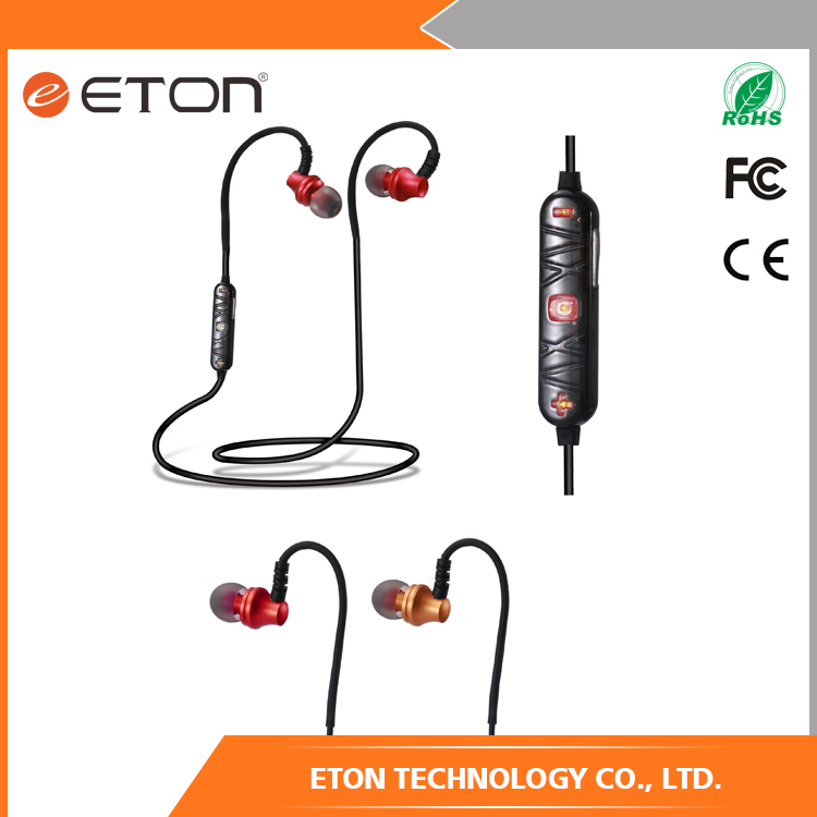 Mobile Phones Used flat cable sport bluetooth earphone new product launch in China