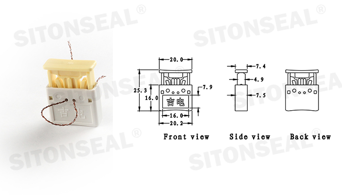 ST-4007 China Meter Seal Supplier Easy Self-locking Meter Seal
