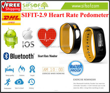 SIFIT-2.9 Bluetooth Fitness Bracelet Pedometer With Heart Rate Monitor, Activity Tracker, Battery Power for Two Weeks.