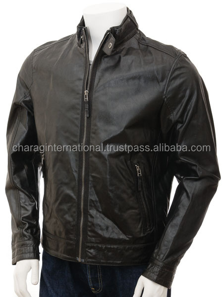 Most fashion hot sale good quality cheap mens real leather jackets