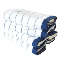 Japan Made Stripe Towel Green and Navy for China Rich Special Soft