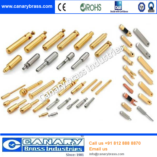 Electrical Solid Power brass Plug Insert Pin