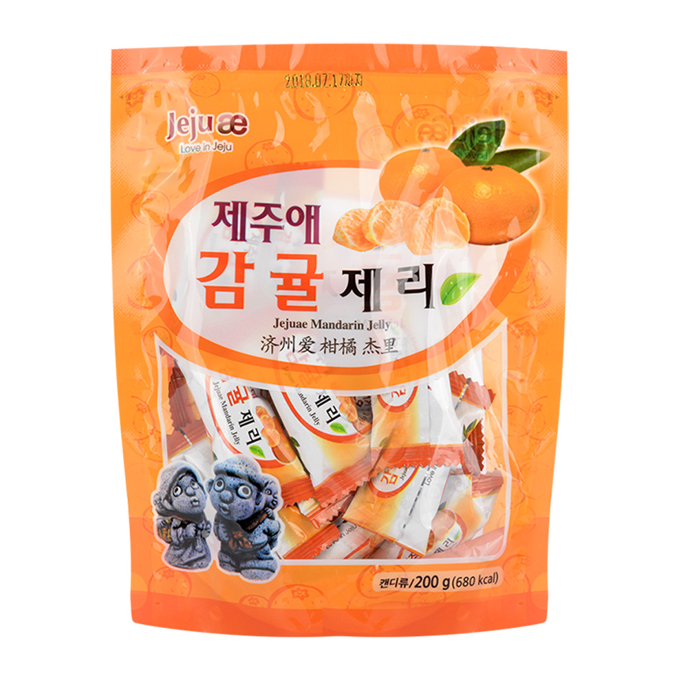 JEJUAE Mandarin Jelly 200g Taste Nutrition Scent Delicious Sweet Snack Candy Mouth-watering Gift Enjoy Speciality