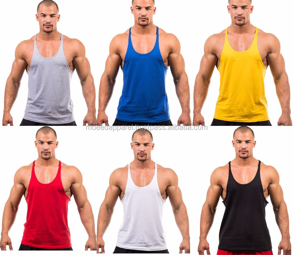 Mens bodybuilding gym sport clothing tank tops custom stringer tank top