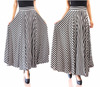 Muslim Long maxi skirts pants culottes for women hot latest striped design