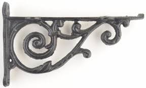 cast iron shelf wall bracket